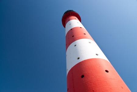 westerhever: lighthouse of westerhever  eiderstedt  germany