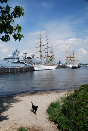 kiel: Tall Ship in Kiel, Germany Editorial