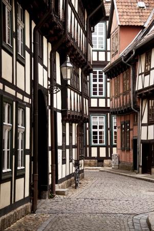 idylle: Building in Quedlinburg in Germany Stock Photo