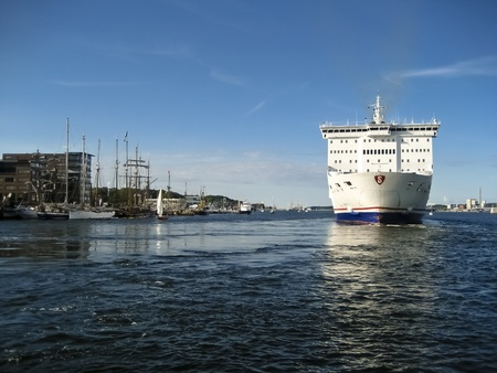 kiel fjord: Scene in the Port of Kiel