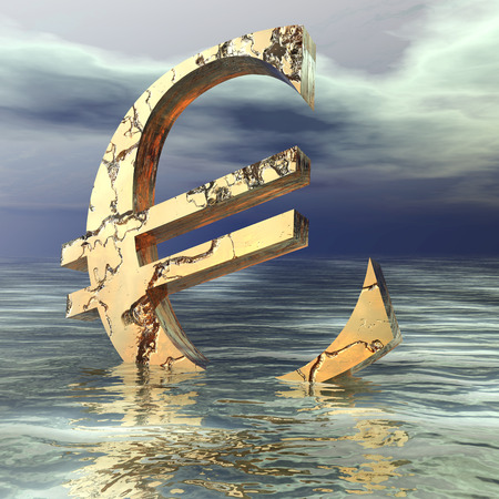 struck: Digital Illustration of an Euro Symbol
