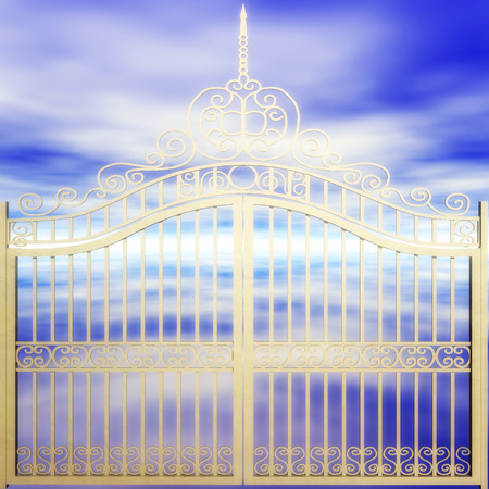 finished: Digital Illustration of a golden Gate Stock Photo