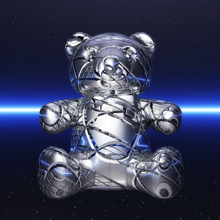 ironic: Digital Illustration of a Teddy Bear Stock Photo