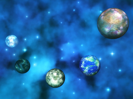 earthlike: Digital Illustration of a cosmic Scene