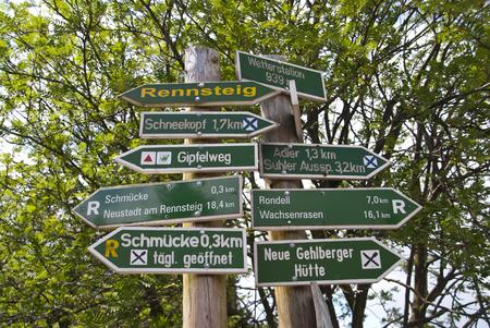 walking trail: Walking Trail Rennsteig in Germania Archivio Fotografico