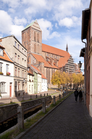 heritage protection: Old town of Wismar in Germany Stock Photo