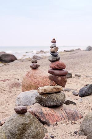 pepples: Balanced Pepples at the Baltic Sea of Germany