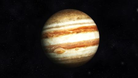 jupiter: Digital Illustration of Planet Jupiter Stock Photo
