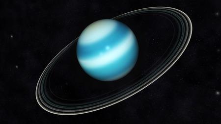 uranus: Digital Illustration of Planet Uranus