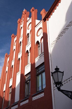 heritage protection: Buildings in Wismar in Germany Editorial