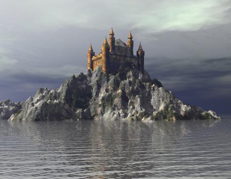 Digital Illustration of a Castle