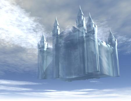 Illustration d'un château dans le ciel