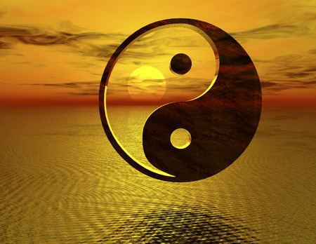 yang ying: digital rendering of the ying and yang symbol