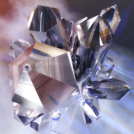 Digital Illustration of rhinestone Crystals