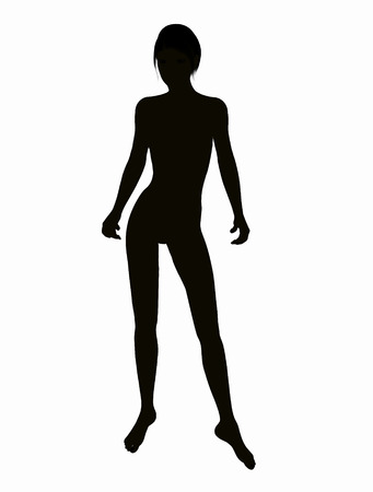 Digital Illustration of a female Silhouette illustration