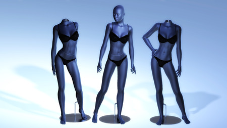 Digital Rendering of virtual Manikins photo