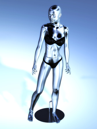 Digital Rendering of a virtual Manikin photo