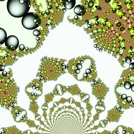 computergraphics: Digital Illustration of a fractal Structure