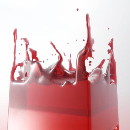 swell: 3D Illustration of splashing Fluid