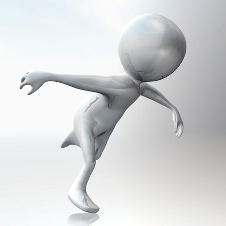 Digital Illustration of a Stickman illustration