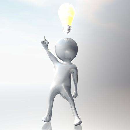 thoughtfulness: Digital Illustration of a Stickman
