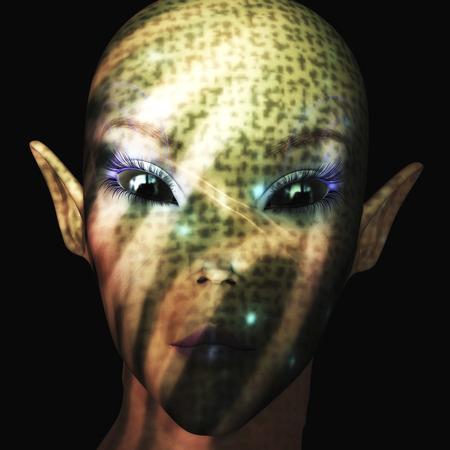 light reflex: Digital Illustration of an Alien