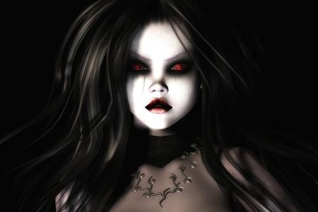 shudder: Digital Illustration of a gothic Female