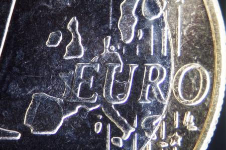 zone euro: Micro Photo d'un Euro Coin