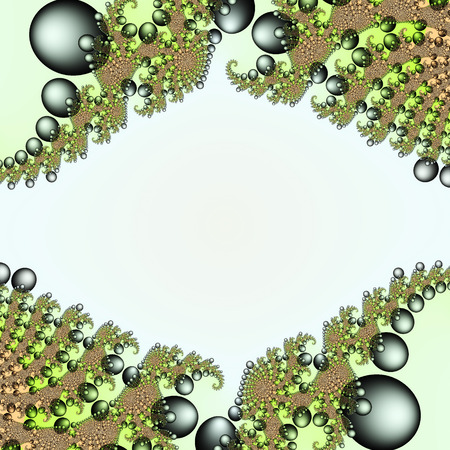 chaos theory: Digital visualization of a fractal Stock Photo