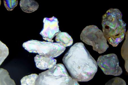 polarization: Micro photography of sand grains in polarized light