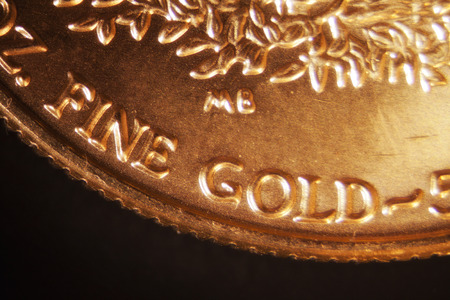Micro Photo of a Gold Coin photo