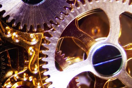 restlessness: Micro photo of a clockwork Stock Photo