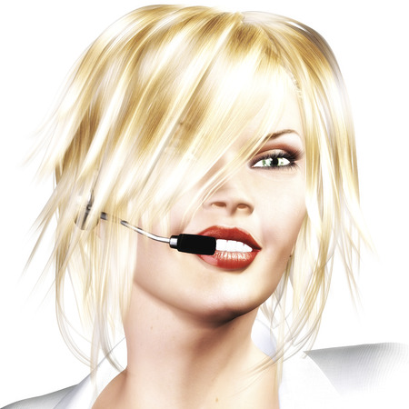 Digital Rendering of a Woman with Headset photo