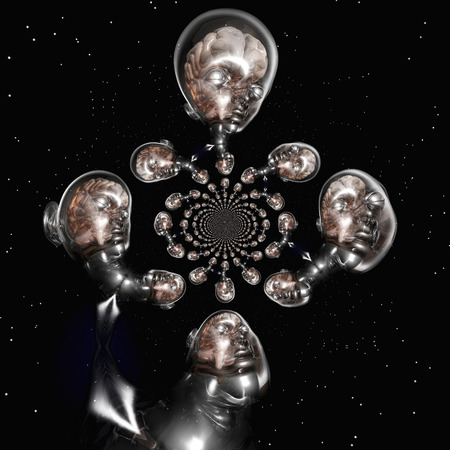 Digital Visualization of a surreal Human Brain photo