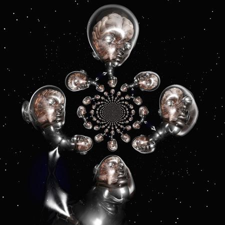 Digitale visualisatie van een surrealistische Human Brain Stockfoto