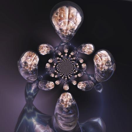 Digitale visualisatie van een menselijk brein