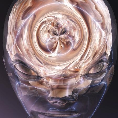 Digital visualization of a human brain photo