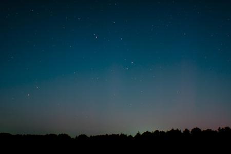 polar light: Aurora sobre St. Peter-Ording, Alemania Foto de archivo