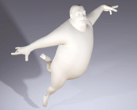 beings: Digital Illustration of a Cartoon Man
