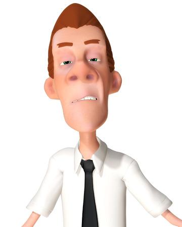 mimic: Digital Illustration of a Cartoon Man