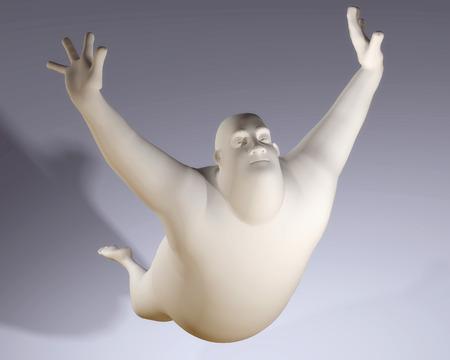 male ballet dancer: Digital Illustration of a Cartoon Man