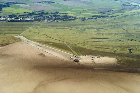 sandbank: Aerial view from the Schleswig-Holstein Wadden Sea National Park in Germany Stock Photo