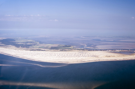 wadden: Aerial view from the Schleswig-Holstein Wadden Sea National Park in Germany Stock Photo
