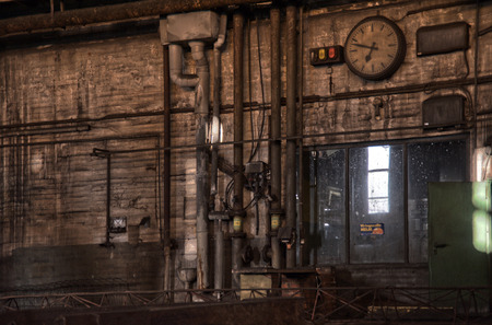 industrial heritage: Interior View of the Carlshuette in Buedelsdorf, Germany, Location of the NordArt