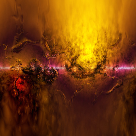 turbulent: Digital Illustration of a surreal abstract Structure