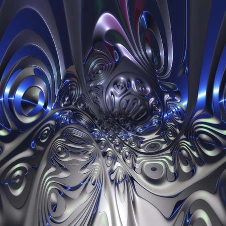 turbulence: Digital Illustration of a surreal abstract Structure