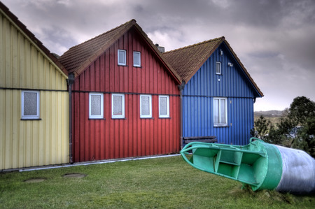 fishing huts: Fishing Huts on North Frisian Island Amrum in Germany
