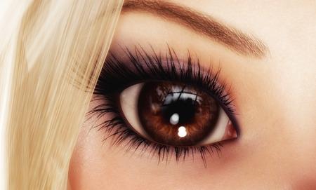 mimic: Digital 3D Illustration of a female Eye Stock Photo