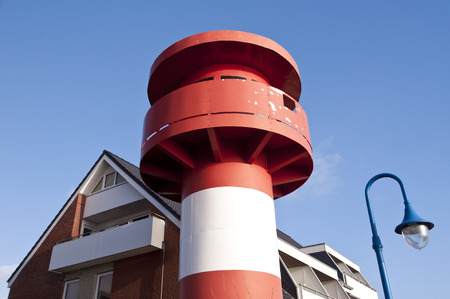 navigation aid: Lighthouse on North Frisian Island Amrum in Germany