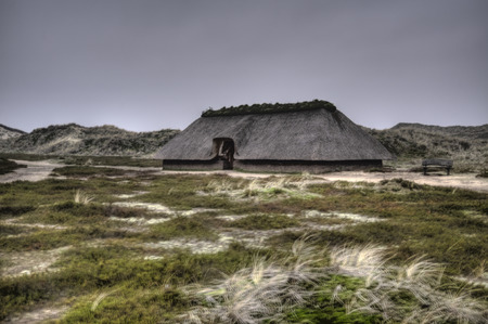 ���stone age���: Prehistoric Reconstruction of a Stone Age House on Amrum in Germany